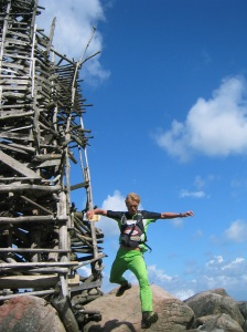 Ladonia Mountain Trophy usually pass Nimis, a controversial art work by artist Lars Vilks.Lars