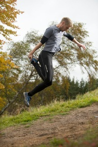 for better muscle balance: isolate one leg and jump uphill