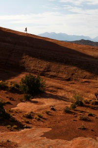 Trail running in Moab for a change. Photo: Peder Sundström. Runner: me