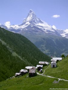 View of Matterhorn from Findeln. Photo credit: www.ski-zermatt.com