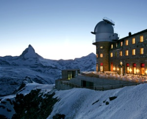 Running into thin air. Photo courtesy of Kulmhotel Gornergrat.