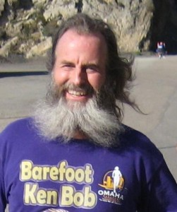 Ken Bob Saxton. Photo from his website barefootrunning.com