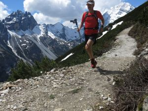 I love to run on high alpine trails. This picture is from last week's running holiday in Stubaital, Austria. Photo & runner: Fredrik Ölmqvist