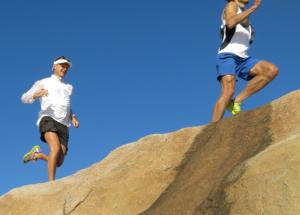 Hitta känslan och du hittar glädjen. Löpare: Svante Lundgren och Fredrik Ö.