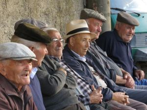 Healthy old men of Orroli, Sardinia, one of the 'Blue Zones'. Photo: Fredrik Ölmqvist