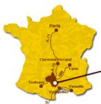 Les Templiers äger rum i södra Frankrike, cirka en timmes bilresa norr om Montpellier.